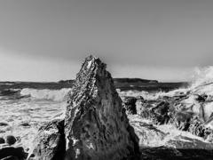 a weatherred rock