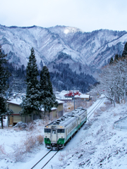 奥会津、雪来たれり
