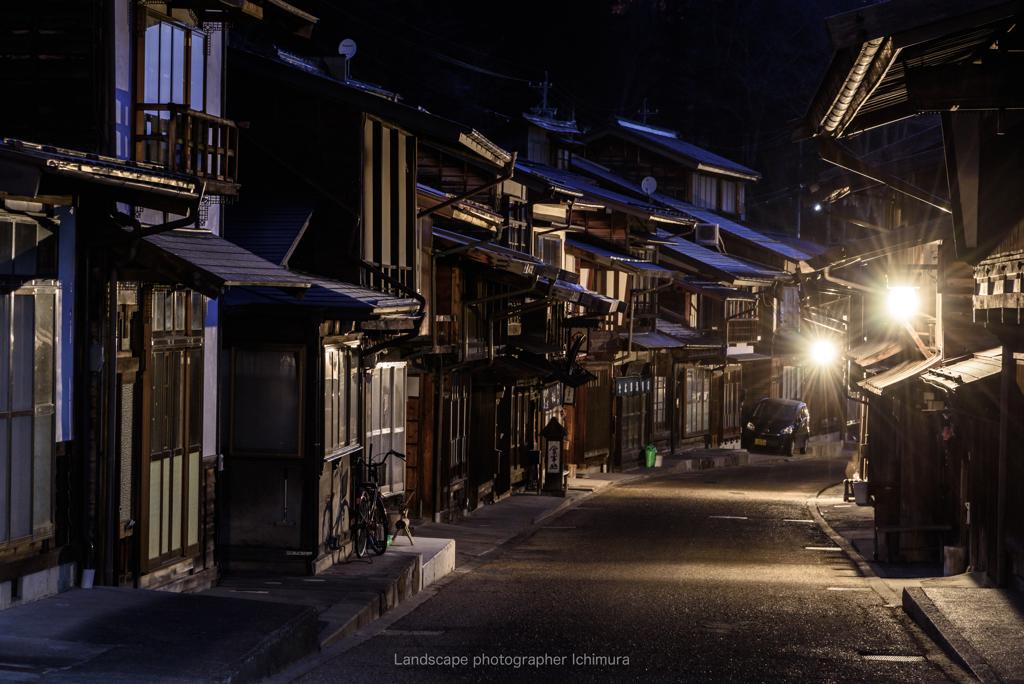 冬の宿場町