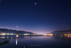Night view of the Lake-Suwa