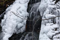冬の親子滝