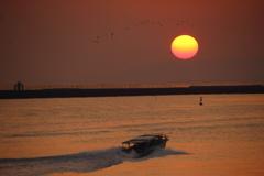 有明海の落日