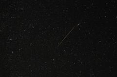 ペルセウス座流星群。(平成25年)2