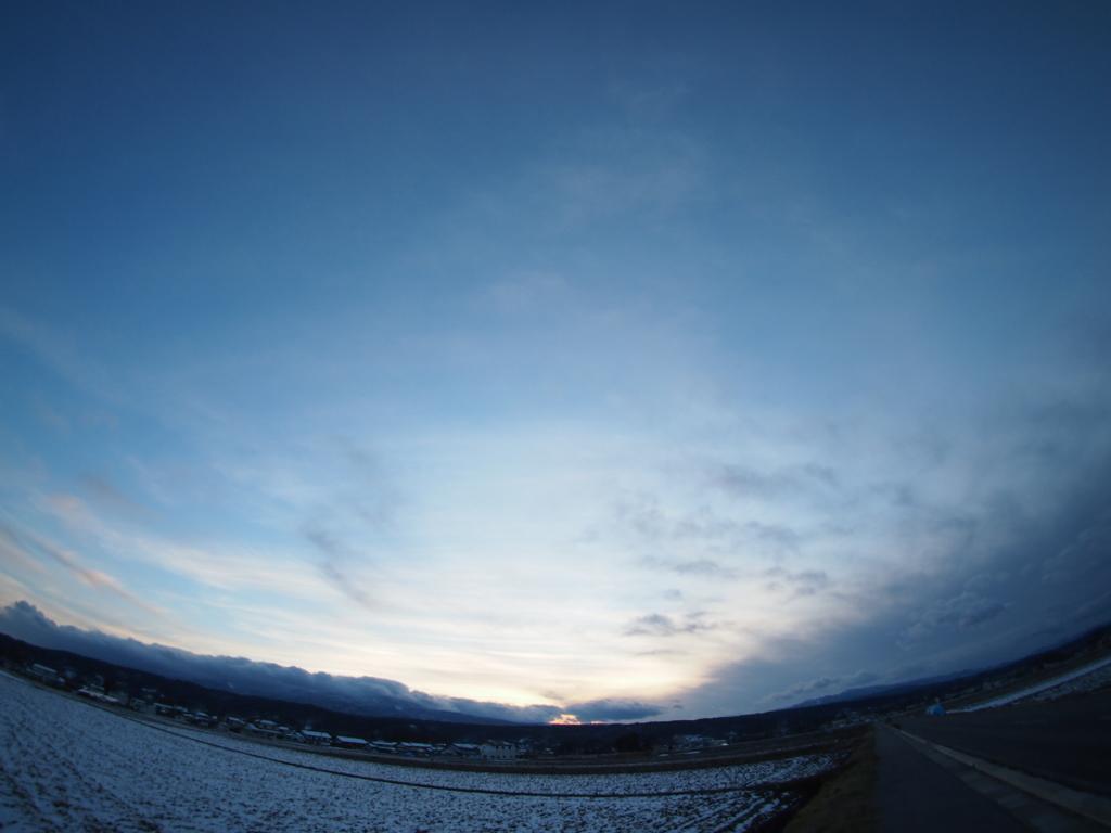 冬の日の入