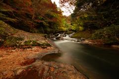 八重滝の紅葉②