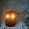 2015.12.19 今朝の8009レ:雪降る中