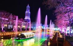 光の街の運河