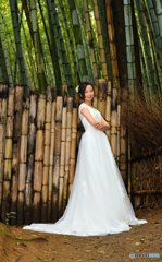 White dress in the bamboo