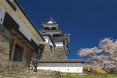 桜満開小峰城