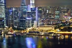 シンガポール マリーナベイサンズ 夜景