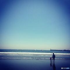 海辺の瞬間