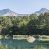 瑠璃沼から磐梯山を望む