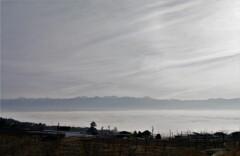 雲海上に南アルプスを望む
