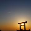 桜井二見ヶ浦で夕焼け('14.4.6)-1