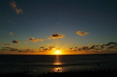 角島で夕焼け(2014.9.13)-1