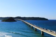 角島大橋にて~長ーい橋~