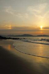 志賀島で夕焼け('14.2.16)-2 ~rainbow~