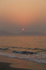志賀島で夕焼け('14.2.2)-2