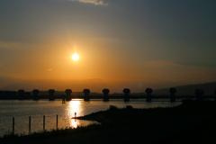 ある日の夕日-2