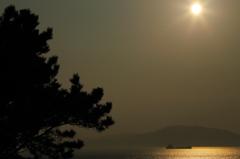 志賀島で夕焼け('14.2.1)-1