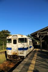 嘉例川駅にて-1