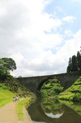 通潤橋にて~放水前~