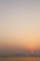 志賀島で夕焼け('14.2.2)-1