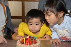 みず希&航大(パパの誕生日)