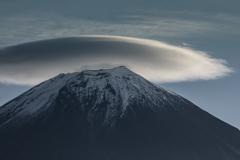 晩秋の笠雲
