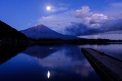 月明りの湖