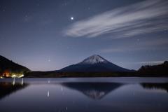 黎明の精進湖