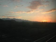 中国 トルファンの朝