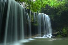 新緑の鍋ヶ滝