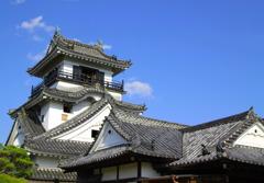 高知城と青い空