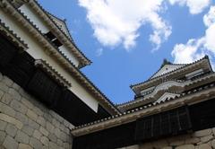 松山城と青い空