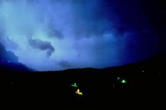 スイス 真夜中の稲妻