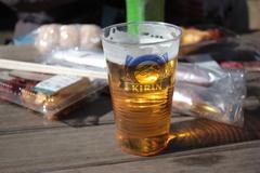 つかの間の昼ビール