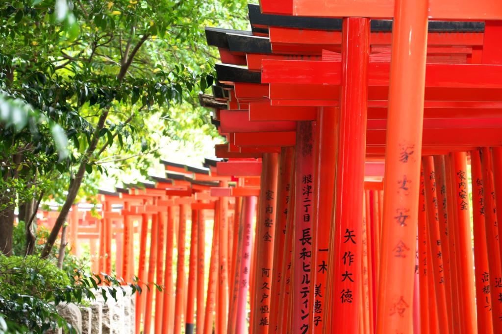 「根津神社 鳥居」の画像検索結果