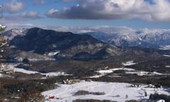 野尻湖と斑尾山と雲
