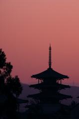 奈良の夕景
