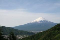 御坂峠からの河口湖と富士