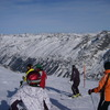 corvatsch氷河滑降開始