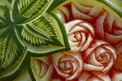 食べ物彫刻