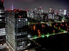 皇居外苑・赤坂方面の夜景