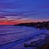 波打ち際の夕景