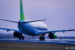薄暮の空港