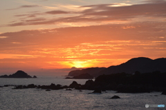 太平洋の夕焼け