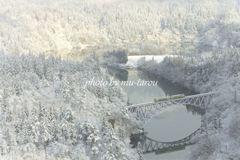 Bridge of fantastic snow