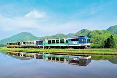会津鉄道、水鏡。
