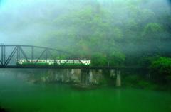 只見線、霧の第四橋梁 part3